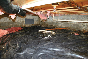 Crawl Space Repair Before in Asheville