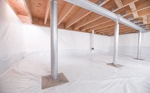 Crawl space structural support jacks installed in Pickens