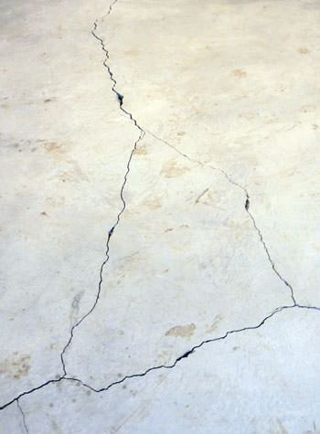 severely cracked, heaving slab floors in a home in Chester