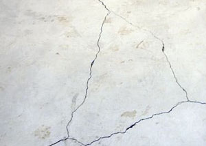 cracks in a slab floor consistent with slab heave in Irmo.