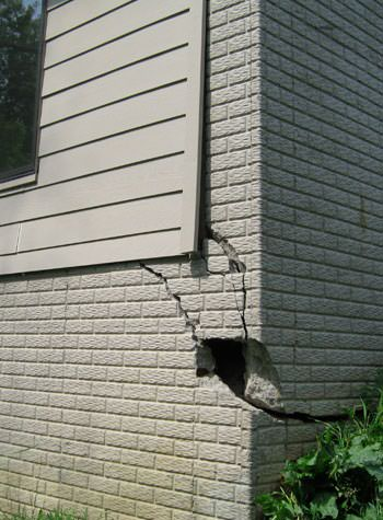 severe cracking of structural walls in Greenwood