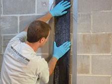 CarbonArmor® Strip applied to wall in Lexington
