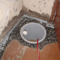 Installing a sump in a sump pump liner in a Spartanburg home