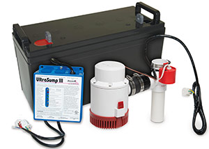 a battery backup sump pump system in West Columbia