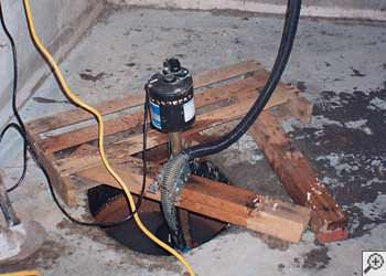 A Seneca sump pump system that failed and lead to a basement flood.