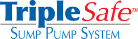 Sump pump system logo for our TripleSafe™, available in areas like Pickens