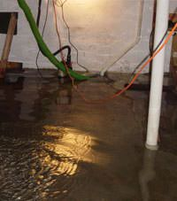 Several feet of floodwaters in a Belton basement
