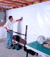 Plastic 20-mil vapor barrier for dirt basements, Greenwood, North Carolina, South Carolina & Georgia installation