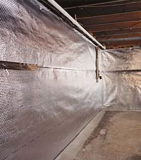 Radiant heat barrier and vapor barrier for finished basement walls in Greenwood, North Carolina, South Carolina & Georgia