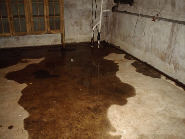wet basement waterproofing in asheville greenville